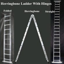 October hot sell aluminium trestle ladder with two hinges