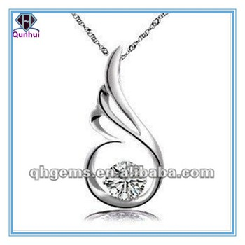Hot-sale round shaped white cz necklace