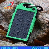 2017 Waterproof solar charger 5,000-10,000mAh dual USB portable solar panel power bank