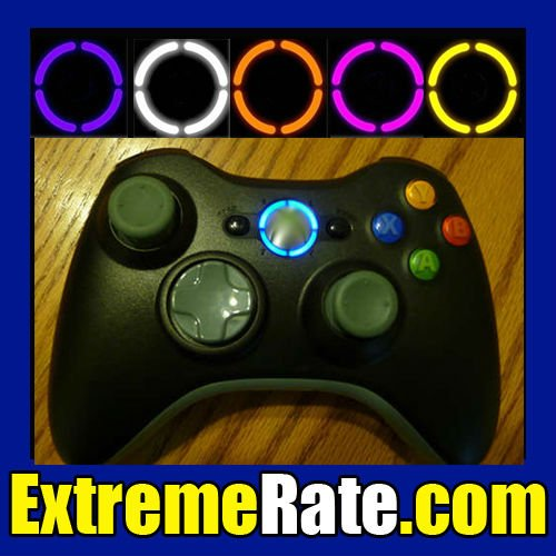 For Xbox 360 Controller Ring of Light Led Mod Kit 8 Colors