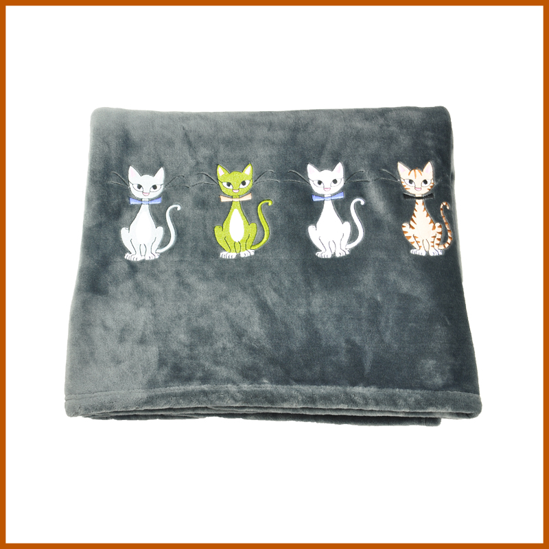 100% Polyester Double Sided Flannel Fleece Fabric Blanket