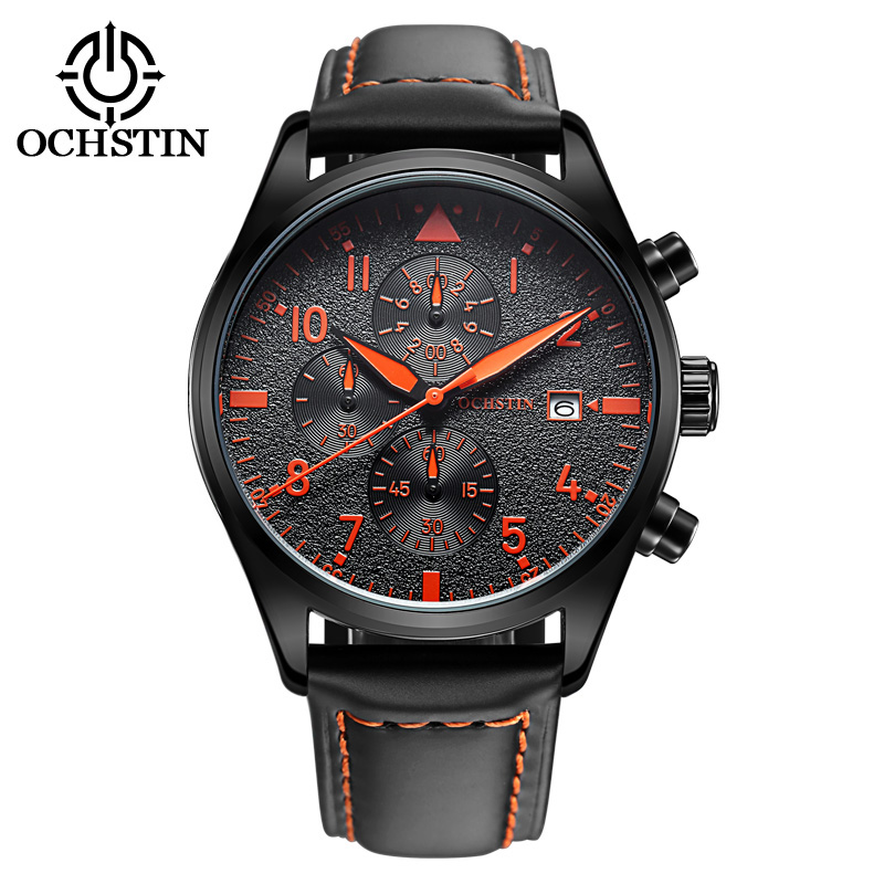 2016 New fashion custom watch sport watches men luxury brand stainless steel chronograph watch
