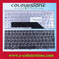 High quality laptop keyboard for U135 RU Black with golden frame