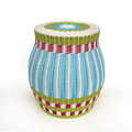 handmade PE rattan iron frame colorful multi-function storage outdoor plastic woven stools