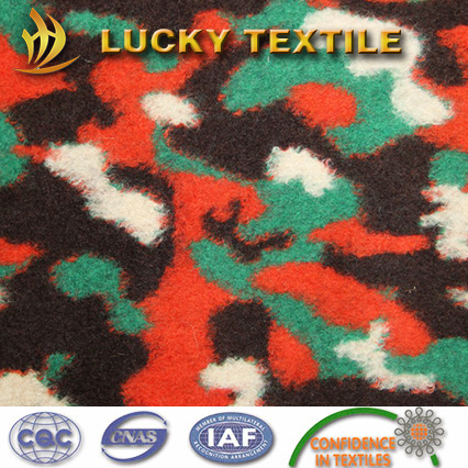 Camouflage jacquard wool fabric for coat