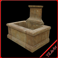 Antique outdoor waterfall Stone wall water fountain(YL-Z011)