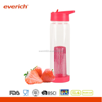 Resist High Temperature Eco-friendly Plastic Water Bottle With Infuser
