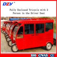 Electric tricycle Fully Enclosed Tricycle with 2 Person in the Driver Seat