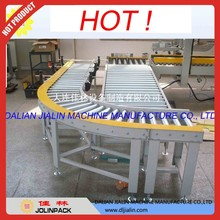 Stainless steel single chain drive roller curved conveyor