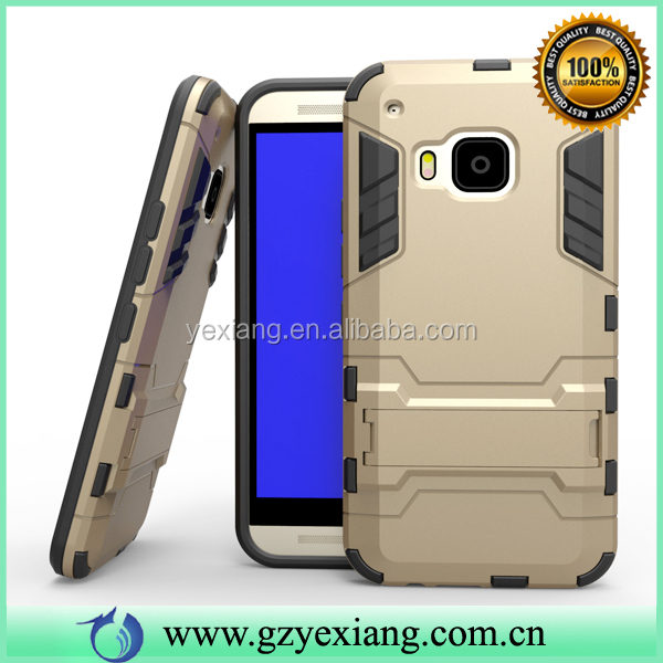 Shockproof Armor Design Hybrid Case Cover For HTC X9 Back Cover Kickstand