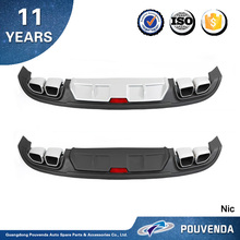 New Arrive High Quality Rear diffuser For Hyundai Elantra 2016 2017 Rear Skid Plates Tail lip Auto accessories from pouvenda