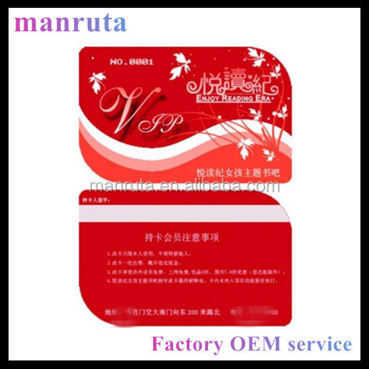 leading manufacture Full color printing plastic irregular shape business card