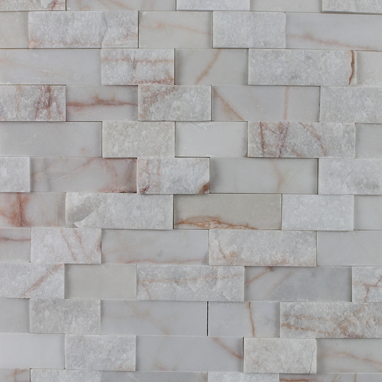Decorstone24 Split & Polished Design Seamless Tile Backsplash Marble Mosaics For Kitchen Wall Decoration