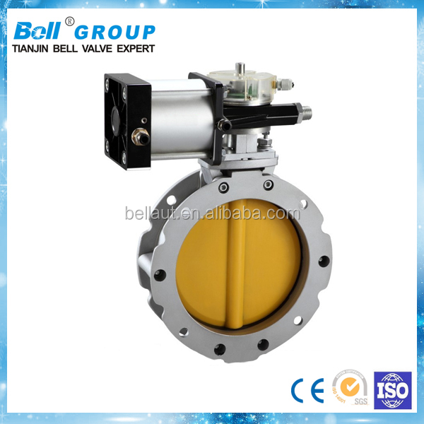 DN150 Double Flange Cement Butterfly Valve