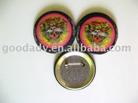 (metal crafts gift)35mm Tinplate button badge