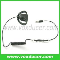 D shape type Listen Only Earpiece for 2.5mm jack two way radios