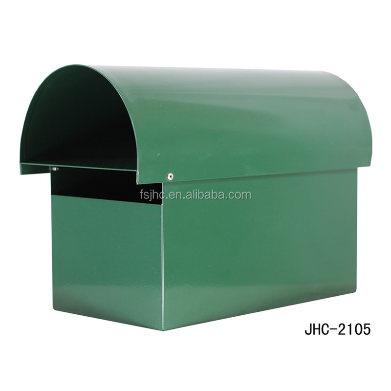 Post style mailbox with newspaper holder