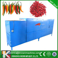 180kg/hour Red Chilli Cutting Machine/Fresh Chili Stem Cutting Machine