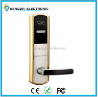 Electronic security hotel door handle removable cylinder lock