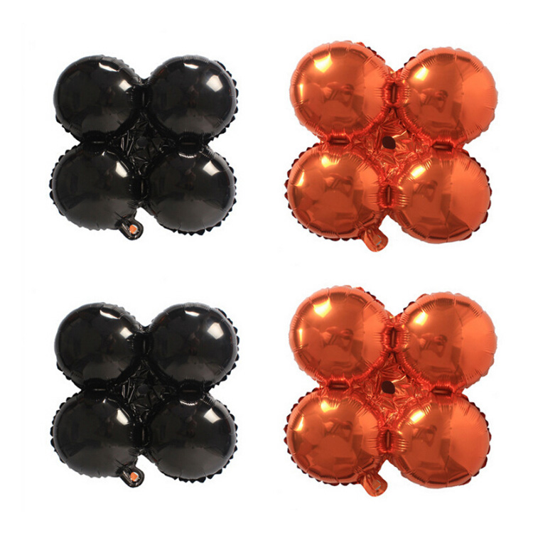 Clover four round wheels party decoration halloween foil balloons