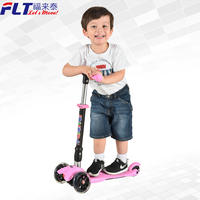 Alibaba China supplier hot sale best price foldable kids scooter with 3 PU wheel