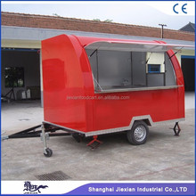 JX-FS290B Jiexian new design mobile off road fast food camper van truck camping trailer on sales