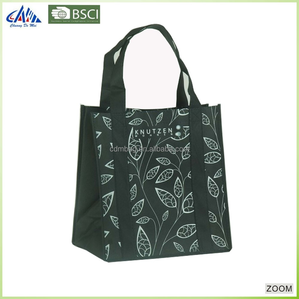 Recycled non woven wine bag with dividers for promotion