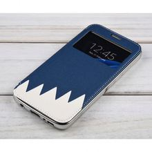 new products leather phone case for samsung galaxy s3 mini i8190 lcd