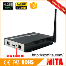 H.265 MPEG-4 AVC hdmi wifi video encoder decoder equipment for IPTV streaming