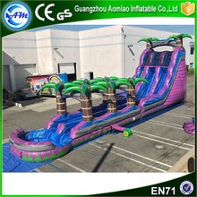 Giant Inflatable Palm Tree Water Slide Comercial Inflatable Slide with pool for sale