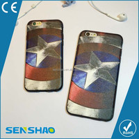 colour decoration diy carton tpu+pc shell case High Quality and new design decorative pattern case for iphone 6