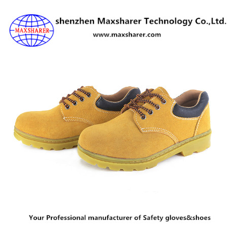 Maxsharer work mans safety shoes steel toe cap for safety shoes