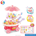 PS2312591 High class sweet candy shop Toy icecream set with music light rotated function for kids