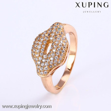 11790 Xuping new design gold plated vogue women jewelry wedding rings