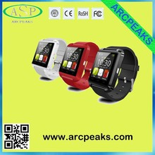 Hot sales android smart watch U8 with free sample for old client real factory Shenzhen