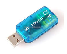 Virtual 5.1 Surround 3D USB 2.0 External Sound Card