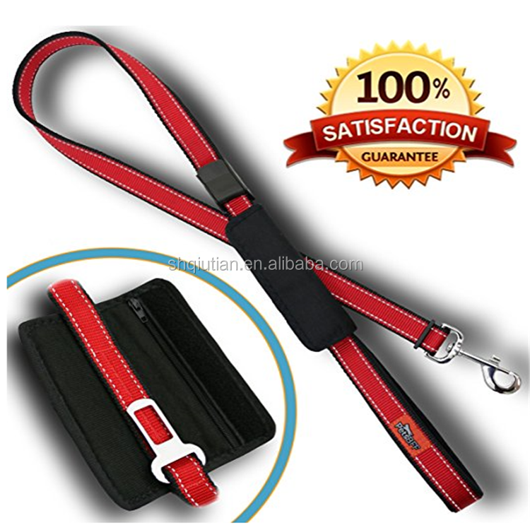 Dog Seat Belt - Premium Adjustable Reflective Pet Leashes - Safety Dog Seatbelt Harness for Car / Vehicles