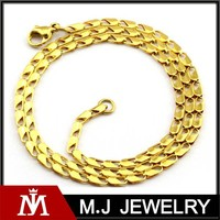 Fashion necklace 316L stainless steel jewelry making gold beads chain