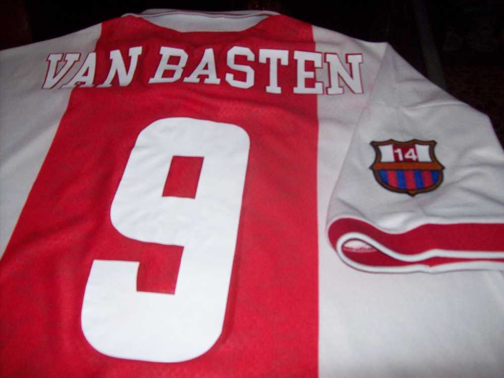 Van Basten Jersey shirt Ajax 9 celebrative Cruijff last match