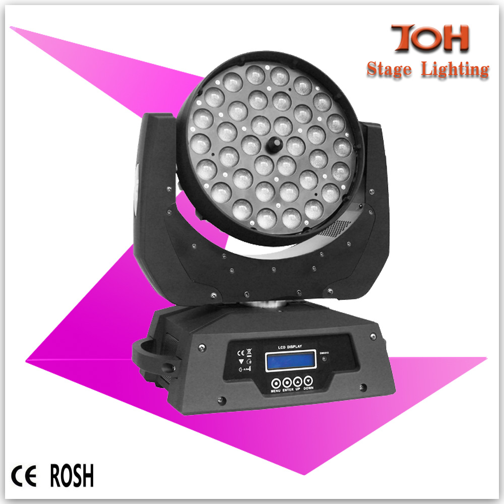 led disco light 36*10w high power RGBW 4in1 led zoom moving head lighting
