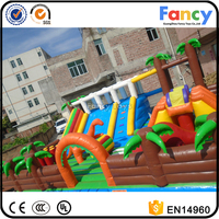 CE inflatable jurassic fun park,giant inflatable water park,bounce city