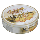 food grade round cookie tin round cookie tin can for gift