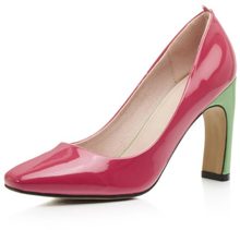 Italy Design Elegant Candy Color Women Block Strange High Heel Ladies Pump Shoes