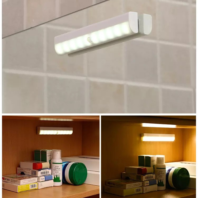 battery motion activated wireless led quick automatic cabinet light