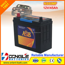 2016 HOT Sale Japan Quality Sealed Maintenance Free Car Battery NS60MF