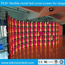 Super brightness outdoor curvable black LEDs p4.8 led display screen stage background 4.81mm led video wall