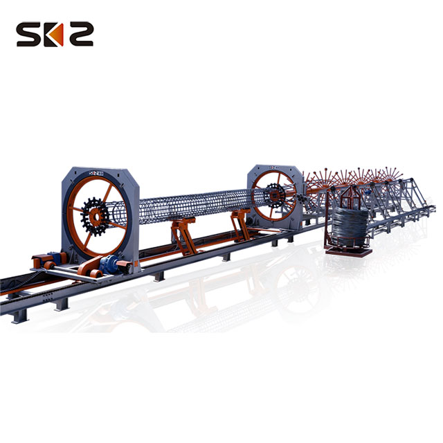 automatic reinforced steel cylindrical pile cage spot welding machine for bridge construction