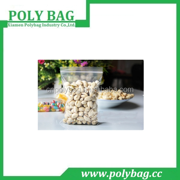 clear non toxic zip lock plastic bag for food