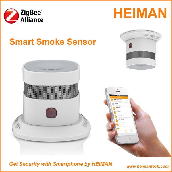 New product Smart Home Alarm Zigbee Nano wireless indoor smoke detector