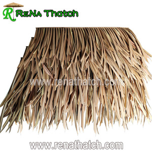 Waterproof artificial plastic thatch roofing for sale